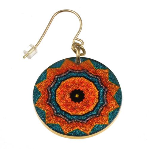 4120-141 - Blue/Orange Kaleidoscope Earring