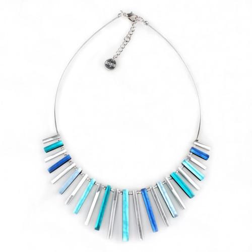 2300-2 - Square Sticks Necklace  Mediterranean