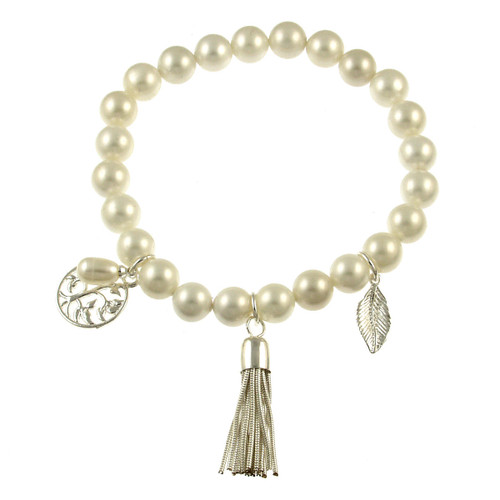 475-1 - Stretch Fresh Water Pearl Bracelet