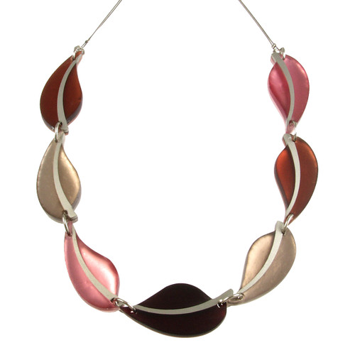 2258-6 - Autumn Leaves Necklace Cherry