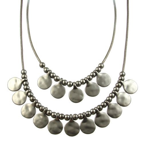 5113-44 - Matte Gunmetal/Dark Grey Gypsy Necklace