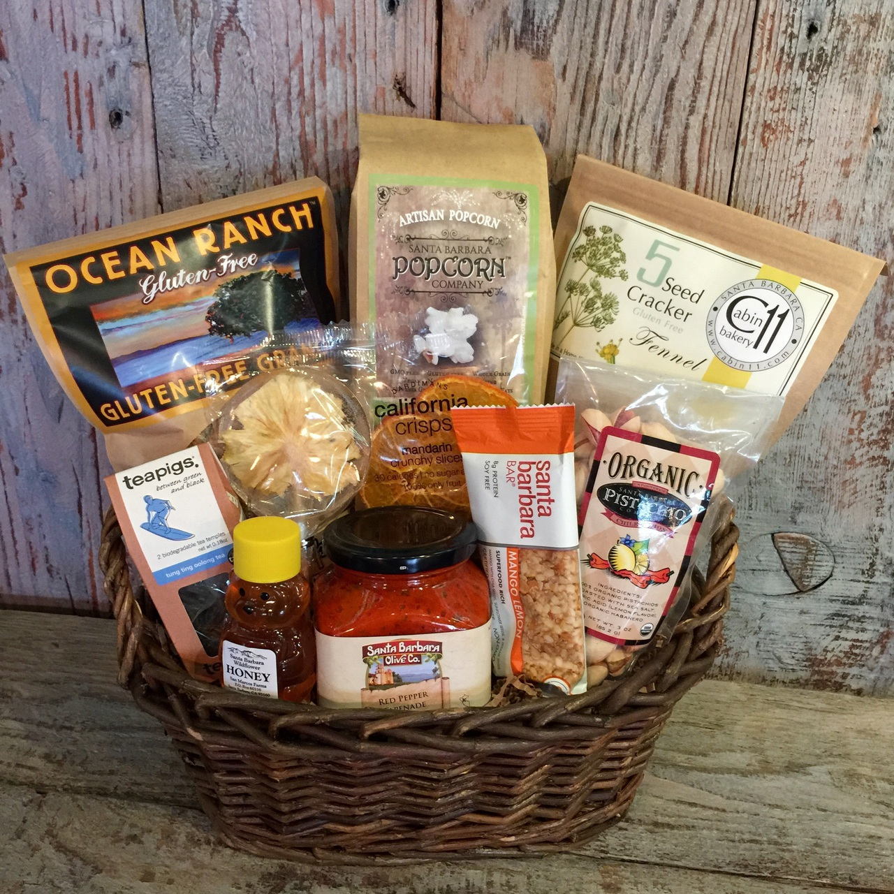 The gluten free gourmet basket by santa barbara gift baskets negle Image collections