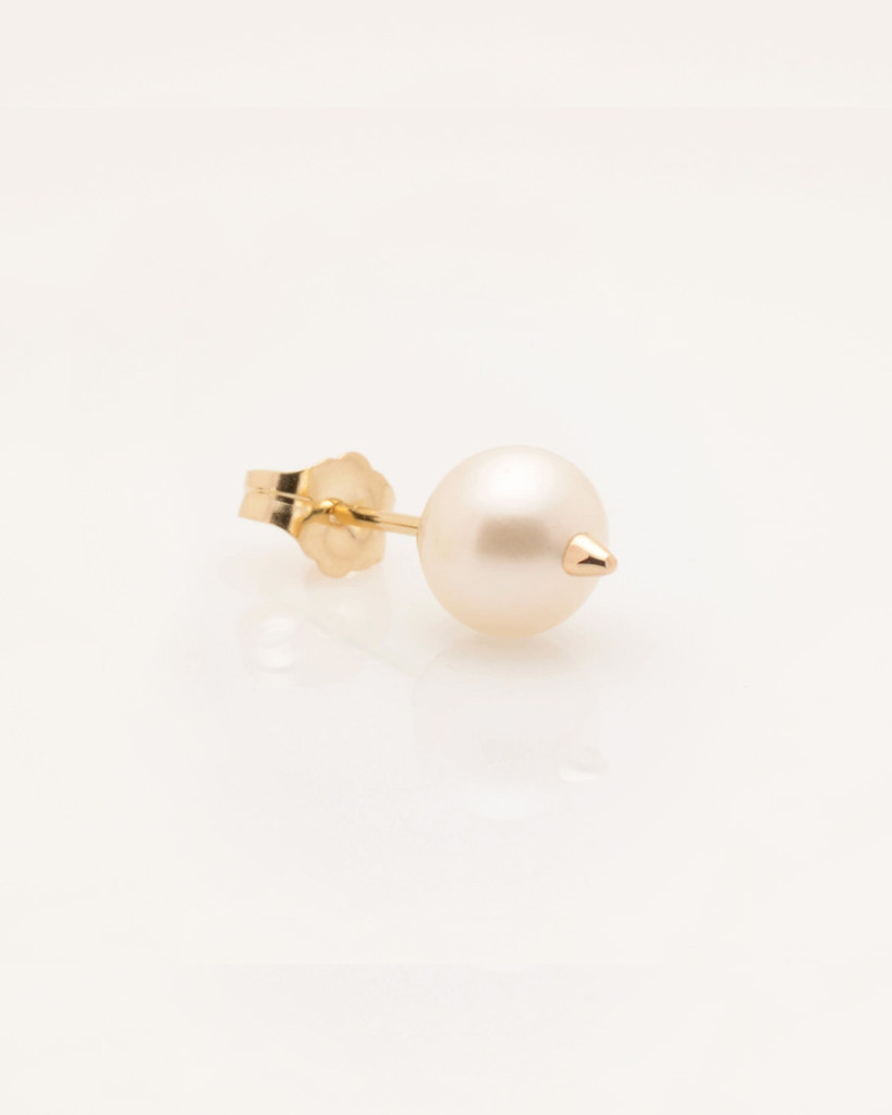 pearl with clear l earrings single earring property room stone gold