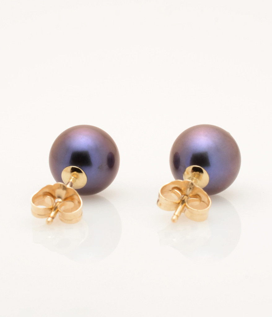 earrings single hanadama stud akoya pearl
