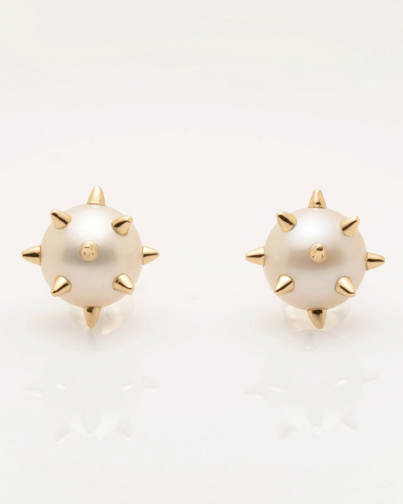 peacock tahitian earrings yellow pearl gold stud in winterson peral