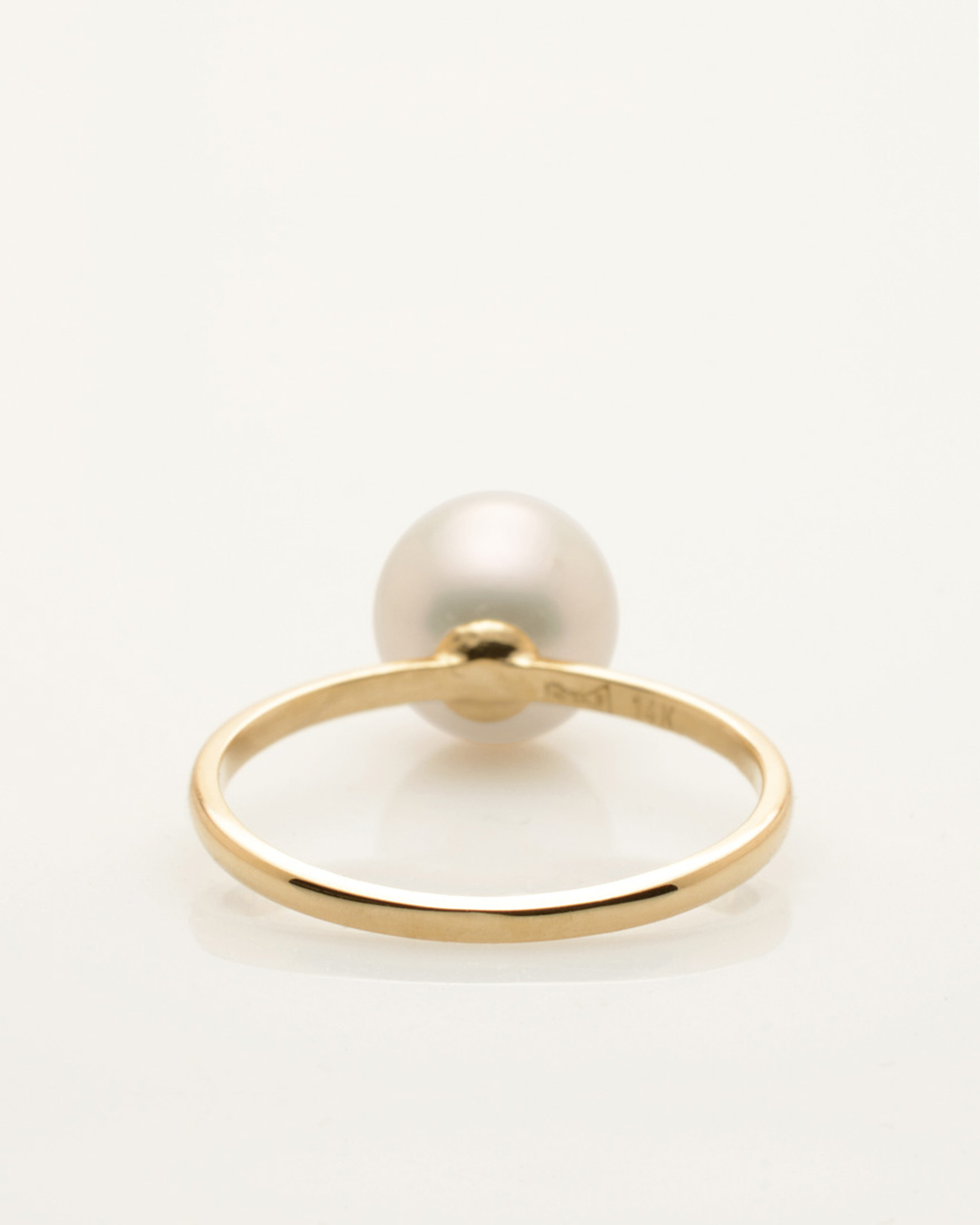 Cultured Freshwater Pearl Ring with LadyBug Diamond Pave and 14k ...