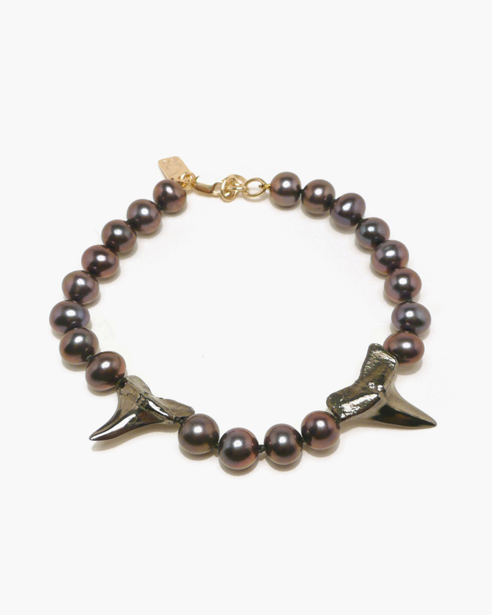 and stone thunderbolt black gold collection lava in onyx en bracelet