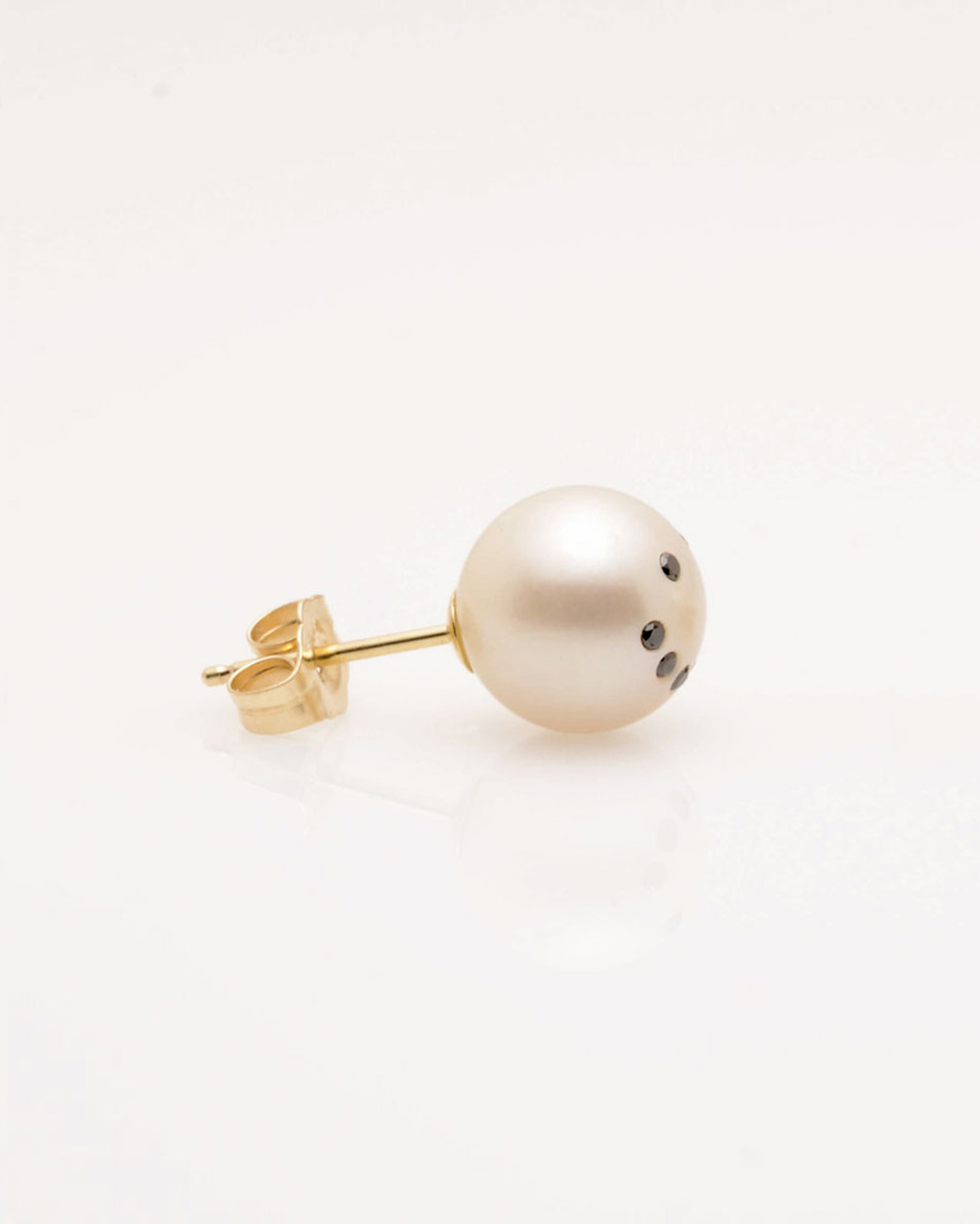post earring pearl earrings stagni designer mm cultured single gold de nektar jewelry back by freshwater of view dots with