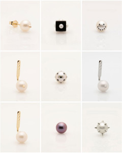 Single Pearl Earrings to Mix & Match by Fine Jewelry Designer Nektar De Stagni