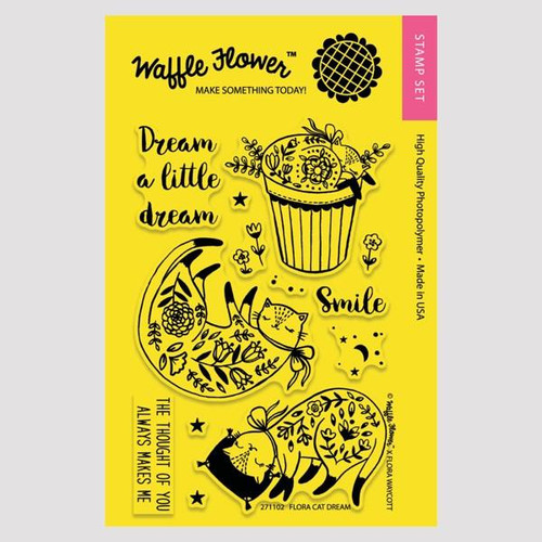 Flora Cat Dream Stamp Set by Waffle Flower