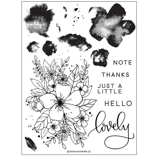 Hello Lovely Stamp Set by Concord & 9th