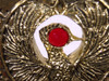 Indiana Jones, Staff of RA Headpiece, Antique Gold, Solid Metal, Red Jewel