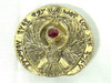 Indiana Jones, Staff of RA Headpiece, Antique Gold, Solid Metal, Red Jewel and Case