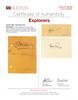 Jacques Cousteau Explorer Signature on Card PSA/DNA Authenticated