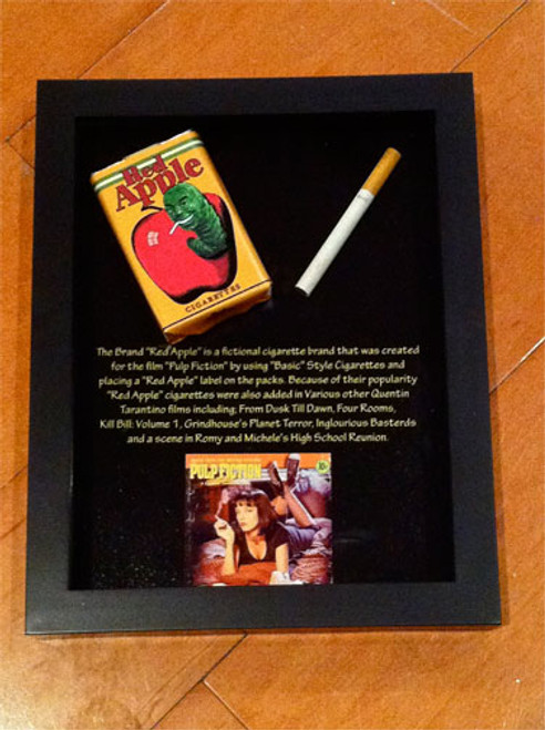 Pulp Fiction Red Apple Cigarette Pack, Framed , Very Neat Piece ...