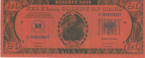 Total Recall, 20 Mars Money Real Prop Note, Arnold Schwarzenegger, Sharon Stone