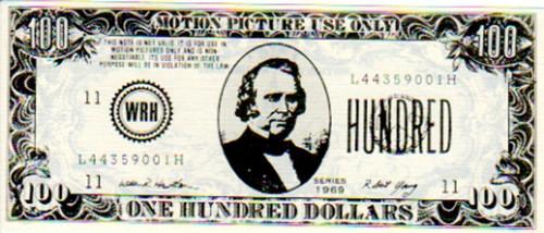 Punisher, Real Prop $100 Money, Type A, John Travolta, Thomas Jane