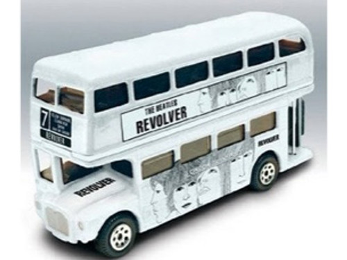 Beatles Die-Cast Revolver Double-Decker Bus Tin, New