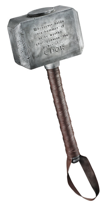 Thor Uru Hammer, Solid Resin, Leather like Handle Wrap, Very Cool