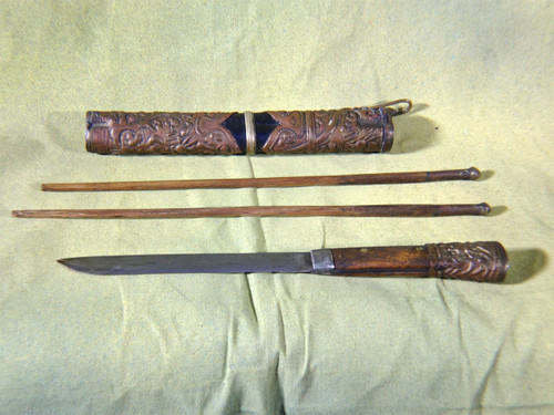 Indiana Jones & Kingdom of Crystal Skull Knife Prop and Chopsticks