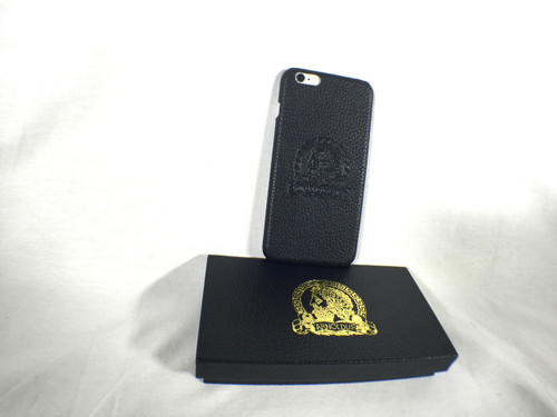 Arnoldus Premium Italian Black Leather IPhone 6 Plus or iPhone 6S Plus Case