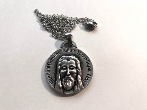 Shroud Of Turin Pendant Silver Metal comes with Free Shroud Book and Chain