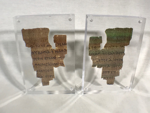 St John Fragment the Oldest New Testament Piece Papyrus Replica, With Display Plaque