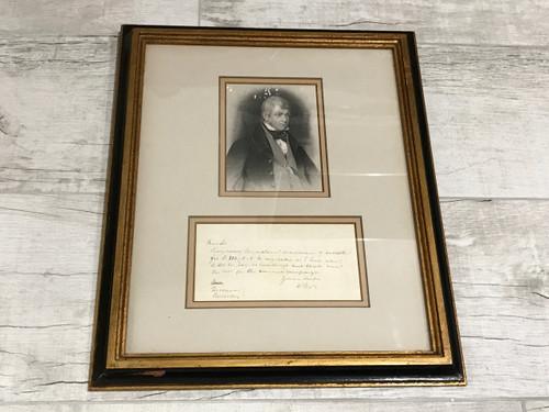 Sir Walter Scott Signed, Framed, Letter, PSA/DNA Authenticated