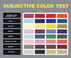 Subjective Color Test Poster Laminated