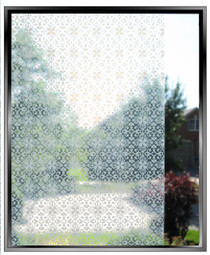 Lace Screen - DIY Decorative Light Duty Window Film