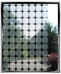 Transparent Tile - DIY Decorative Light Duty Window Film