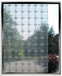 Transparent Tiles Grey - DIY Decorative Light Duty Window Film