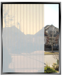 Vertical Pin Stripe - DIY Decorative Privacy Window Film