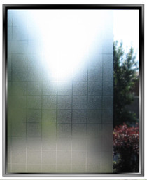 Vinyl Matte Squares - DIY Decorative Light Duty Window Film