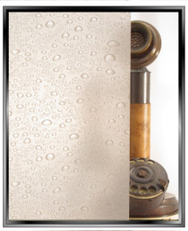 dp Droplets Matte - DIY Privacy Window Film - 2 Film Combination