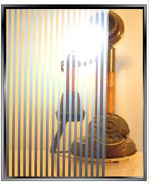 Silver-Gold Ribbon - DIY Decorative Privacy Window Film