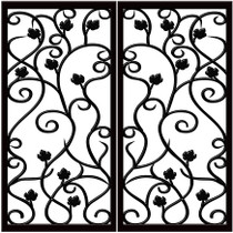 DD8 Faux Iron  (set of two - enter size for one window)