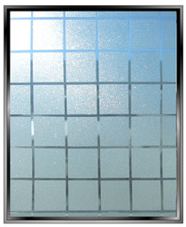 "Geometric 1.125"" Sparkle Squares - DIY Decorative Privacy Window Film"