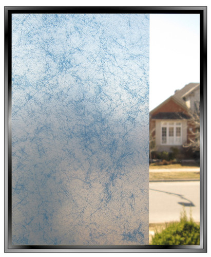 Smoke - Blue - DIY Decorative Privacy Window Film