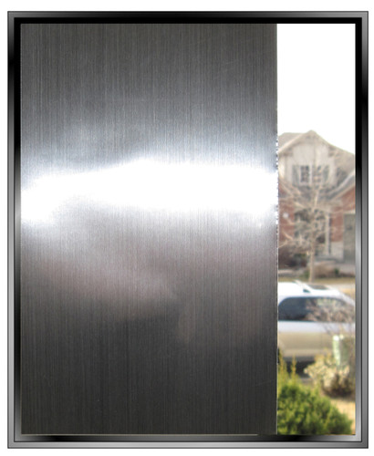 Opaques - Brushed Stainless Steel - DIY Decorative Privacy Window Film