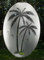 Tropical Etched Pattern Decorative Window Decal