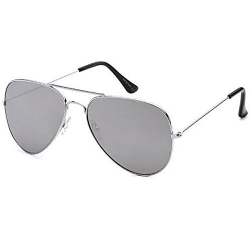 Jamestown Women's Silver Frame with Mirror Lenses Sunglasses