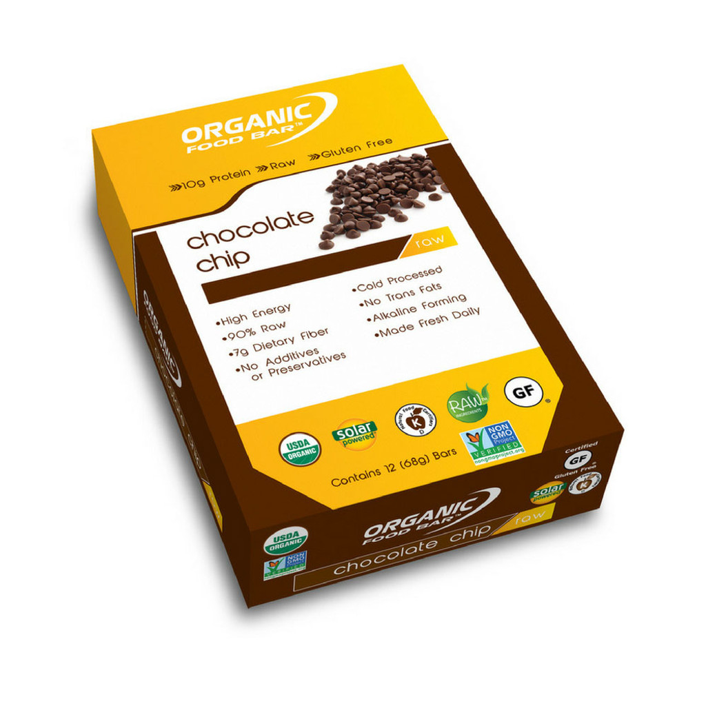 Organic Food Bar - Belgium Chocolate Chip - Box of 12