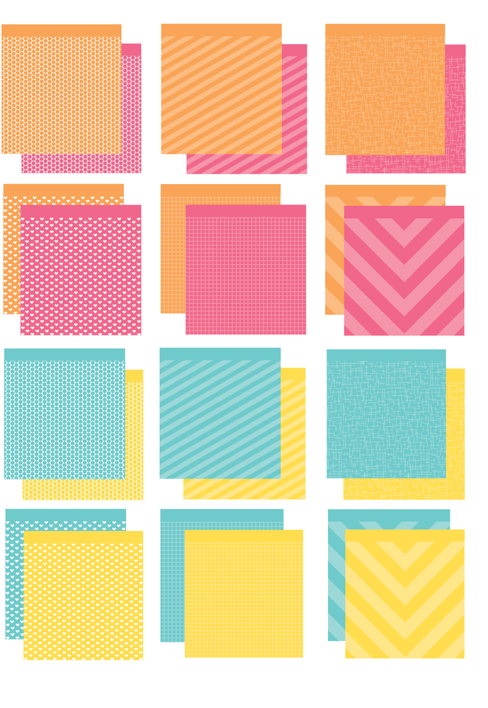 The Brights Collection 6x6 Inch paper pad