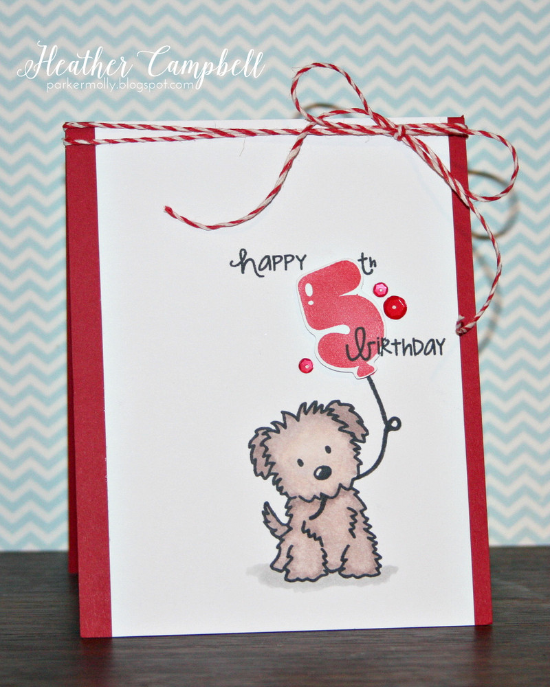 By Heather Campbell for Avery Elle Inc.  Numbered Balloons clear stamps, Fly By clear stamps, Furry Friends clear stamps, The Sugar Collection Note Cards.  Cherry and New Moon pigment ink pads