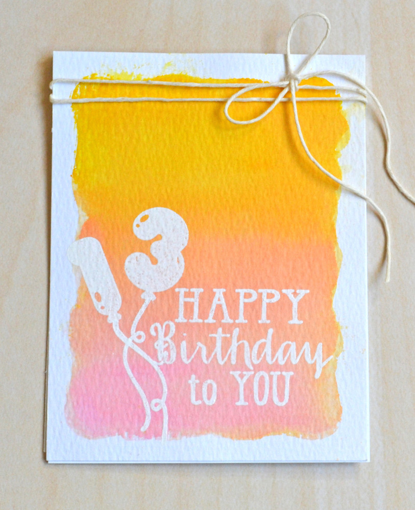 By Jamie Gracz for Avery Elle Inc.  Numbered Balloons clear stamps.