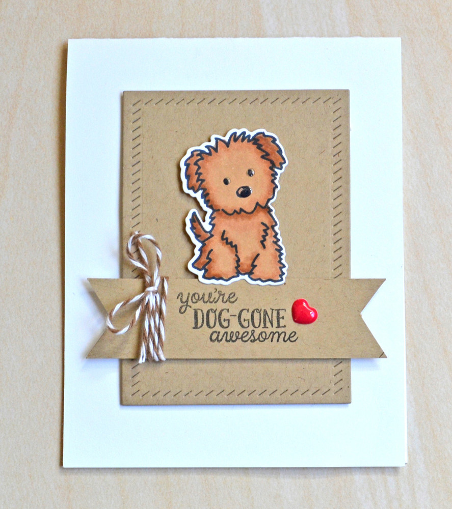 By Jamie Gracz for Avery Elle Inc.  Furry Friends clear stamps and dies.  FInished Frames Dies.