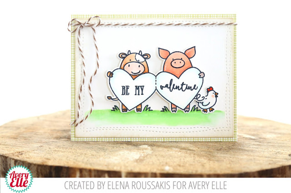 Hogs and Kisses Clear Stamps