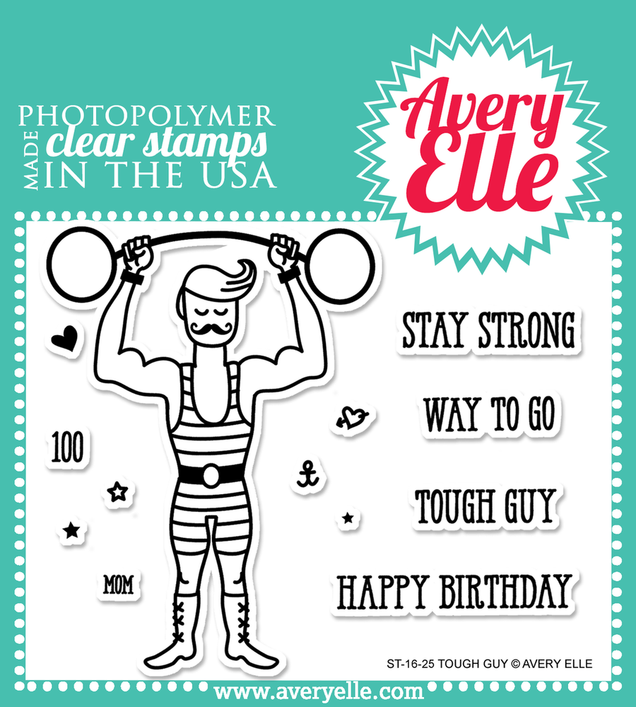 Avery Elle Tough Guy Clear Stamps
