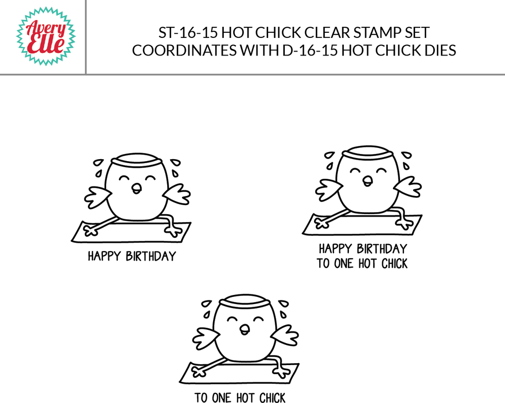 Hot Chick Clear Stamps & Dies